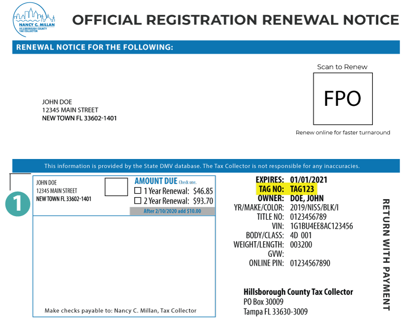 Renew Vehicle Registration Hillsborough County Fl
